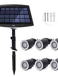 cheap -YWXLIGHT® 6pcs 0.2W Lawn Lights / Underwater Lights Solar / Dimmable / Waterproof Warm White / Natural White 3.7V Garden / Courtyard /