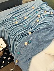 Недорогие -Коралловый флис, Принт и жаккард В клетку Хлопок / полиэфир Акриловые волокна одеяла