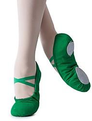 Недорогие -Девочки Обувь для балета Полотно На плоской подошве На плоской подошве Персонализируемая Танцевальная обувь Темно-зеленый / В помещении