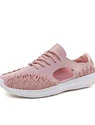 povoljno -Žene Cipele Sintetika, mikrofibra, PU / Til Ljeto Inovativne cipele / Udobne cipele Sneakers Hodanje Ravna potpetica Okrugli Toe za Ured