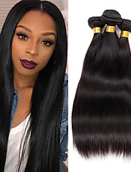 cheap -4Bundles/Lot 100g/pcs Virgin Human Hair Silky Straight Unprocessed Hair Products Cheap Hair