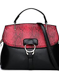 cheap -Women's Bags leatherette / PU Tote Zipper Black / Gray / Brown