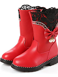 cheap -Girls' Shoes PU Winter Comfort / Fashion Boots Boots for Black / Red / Pink / Booties / Ankle Boots