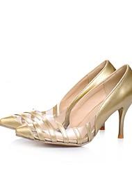 preiswerte -Damen Schuhe Kunstleder Frühling Sommer Pumps High Heels Stöckelabsatz Spitze Zehe für Silber / Gelb / Rot