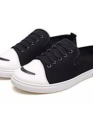 Недорогие -Муж. обувь Полотно / Ткань Весна & осень Удобная обувь Башмаки и босоножки Черный / Серый / Красный