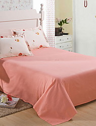 cheap -Flat Sheet - Cotton / Polyester Reactive Print Solid Colored 1pc Flat Sheet