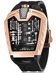 Недорогие -Муж. Спортивные часы Японский Календарь / Секундомер / Защита от влаги силиконовый Группа Черный / С гравировкой / Два года / Sony SR626SW + CR2025