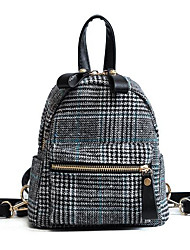cheap -Women's Bags Textile Backpack Zipper for Formal / Outdoor Gray / Coffee