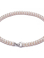 cheap -Women's Choker Necklace  -  Pearl, Freshwater Pearl Ball Classic, Natural, Fashion White 40 cm Necklace For Party, Daily