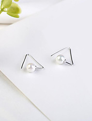 cheap -Women's Drop Earrings - S925 Sterling Silver, Freshwater Pearl Classic, Fashion, Elegant Silver For Party / Gift