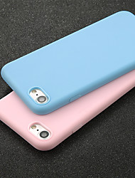 baratos -Capinha Para Apple iPhone X / iPhone 6 Ultra-Fina Capa traseira Sólido Macia TPU para iPhone X / iPhone 8 Plus / iPhone 8