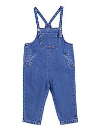 preiswerte -Kinder Mädchen Grundlegend Festtage Solide Patchwork Baumwolle Anzug & Overall
