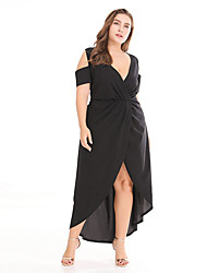 cheap -Women's Boho / Sophisticated Sheath / Swing / Trumpet / Mermaid Dress - Solid Colored Ruched / Split