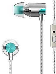 abordables -JUPAO-P1 En el oido Con Cable Auriculares Metal Teléfono Móvil Auricular Con Micrófono Auriculares
