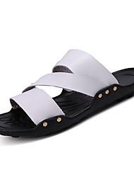 povoljno -Muškarci Cipele PU Ljeto Udobne cipele Sandale Obala / Crn / Braon