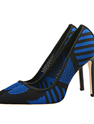 preiswerte -Damen Schuhe Tüll Sommer Pumps High Heels Stöckelabsatz Spitze Zehe Rot / Grün / Blau