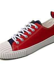 cheap -Men's Fabric Fall Comfort Sneakers Color Block Red / Black / Green