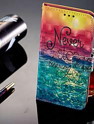 Недорогие -Кейс для Назначение Huawei Honor 9 Lite Бумажник для карт / Кошелек / со стендом Чехол Пейзаж Твердый Кожа PU для Huawei Honor 9 Lite /