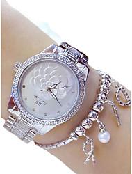 Недорогие -Жен. Нарядные часы Китайский Секундомер Нержавеющая сталь Группа На каждый день Серебристый металл / Золотистый / Два года / Sony 377