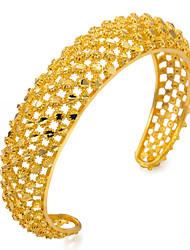 abordables -Mujer Brazaletes / Pulseras de puño - Chapado en Oro Étnico Pulseras y Brazaletes Dorado Para Fiesta / Regalo