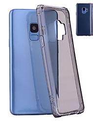 baratos -Capinha Para Samsung Galaxy S9 Plus / S9 Antichoque / Translúcido Capa traseira Sólido Macia TPU para S9 / S9 Plus / S8 Plus