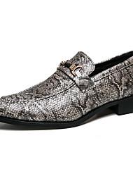 Недорогие -Муж. Официальная обувь Кожа / Искусственная кожа Лето Английский Туфли на шнуровке Черный / Черно-белый / Для вечеринки / ужина