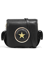 cheap -Women's Bags Genuine Leather Shoulder Bag Buttons for Going out Black / Almond / Wine