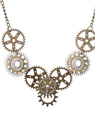 Недорогие -Ожерелья с подвесками - Шестерня Винтаж, европейский, Steampunk Коричневый 70 cm Ожерелье Назначение Повседневные, Для вечеринок