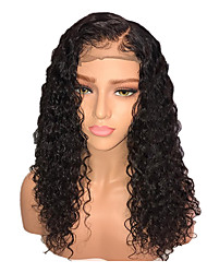 cheap -Remy Human Hair Lace Front Wig Brazilian Hair / Kinky Curly Curly Wig 130% Women's Long Human Hair Lace Wig