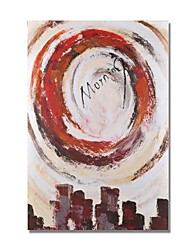 cheap -STYLEDECOR Modern Hand Painted Abstract The Morning in The City Canvas Oil Painting for Wall Art