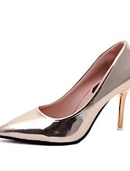 preiswerte -Damen Schuhe Kunstleder Frühling Sommer Pumps High Heels Stöckelabsatz Spitze Zehe Gold / Schwarz / Silber / Hochzeit