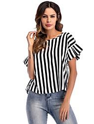 cheap -Women's Blouse - Striped Black & White