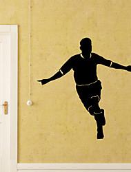 abordables -Autocollants muraux décoratifs - Stickers muraux Football Salle de séjour Chambre à coucher Salle de bain Cuisine Salle à manger Bureau /