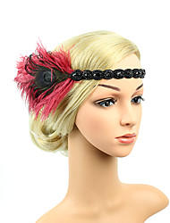 cheap -The Great Gatsby Vintage / 1920s Costume Women's Flapper Headband Blue / White / Golden Vintage Cosplay Feather Sleeveless
