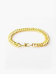 abordables -Homme Bracelet - Basique Forme de Cercle Or Bracelet Pour Plein Air