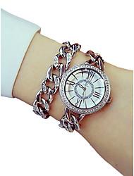 baratos -Mulheres Bracele Relógio Japanês Cronógrafo / Luminoso / imitação de diamante Lega Banda Luxo / Elegante Prata / Dourada / Ouro Rose / Dois anos / Sony SR626SW + CR2025