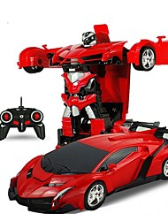 baratos -Carro com CR 2In1 RC Car Sports Car Transformation Robots Models Canal 4 Urbano Drift Car 1:18 KM / H