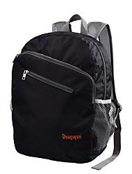 cheap -Unisex Bags Nylon Backpack Zipper Black