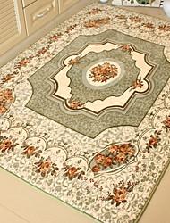 baratos -Os tapetes da área Casual Mistura de Algodão / Poliéster, Rectângular Qualidade superior Tapete