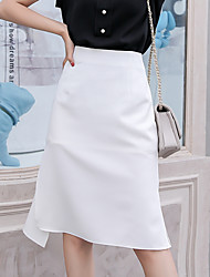 cheap -Women's Daily / Going out A Line Skirts - Solid Colored