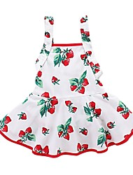 cheap -Baby Girls' Active / Basic Going out Floral / Fruit Print Sleeveless Long Long Dress / Cotton / Toddler