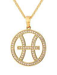 preiswerte -Kubikzirkonia Anhängerketten - Modisch Gold, Silber 55 cm Modische Halsketten Für Alltag
