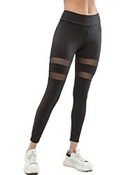 cheap -Women's Yoga Pants Sports Mesh Tights / Leggings Running, Fitness Activewear Fast Dry, High Elasticity Stretchy
