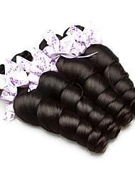 Недорогие -4 Связки Индийские волосы / Африканские косы Свободные волны Необработанные / Натуральные волосы Подарки / Косплей Костюмы / Человека ткет Волосы 8-28 дюймовый Естественный цвет