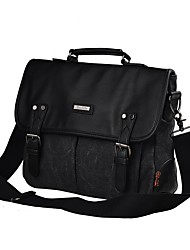 cheap -Men's Bags Canvas / leatherette Briefcase Beading / Buttons Black / Brown