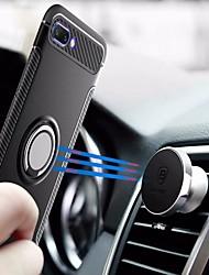 Недорогие -Кейс для Назначение Huawei Honor 10 / Honor 9 Lite Кольца-держатели Кейс на заднюю панель Однотонный Твердый ПК для Huawei Honor 10 /