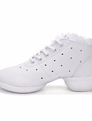 abordables -Mujer Zapatillas de Baile PU microfibra sintético Zapatilla Tacón Bajo Zapatos de baile Blanco / Negro / Negro-Blanco / Rendimiento