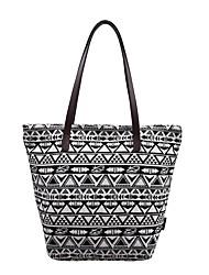 cheap -Women's Bags Cloth Tote Pattern / Print Black / White
