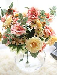 cheap -Artificial Flowers 1 Branch Simple Style / Wedding Flowers Roses / Eternal Flower Tabletop Flower