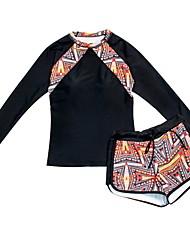 baratos -Mulheres Biquíni - Sólido / Geométrica / Estampa Colorida Perna do Menino
